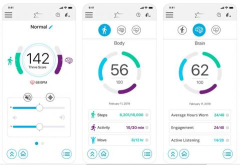 Thrive Hearing Control app