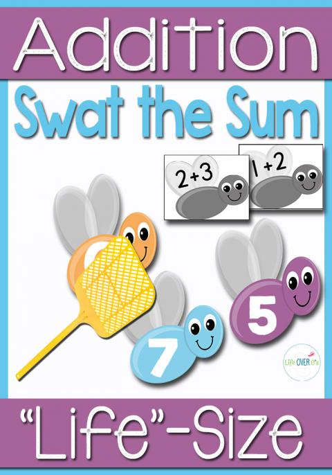 Addition Facts within 10: Swat the Sum